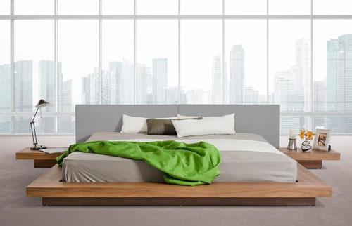 xu hướng chọn đệm cho giường thấp kiểu nhật