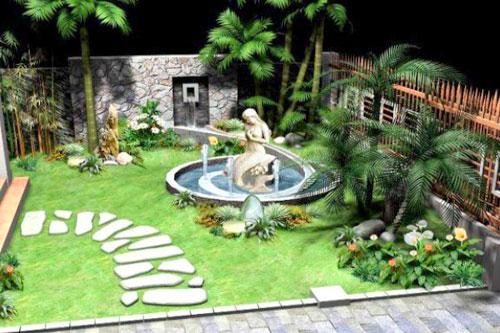Cách bày trí tiểu cảnh sân vườn cho nhà thêm đẹp