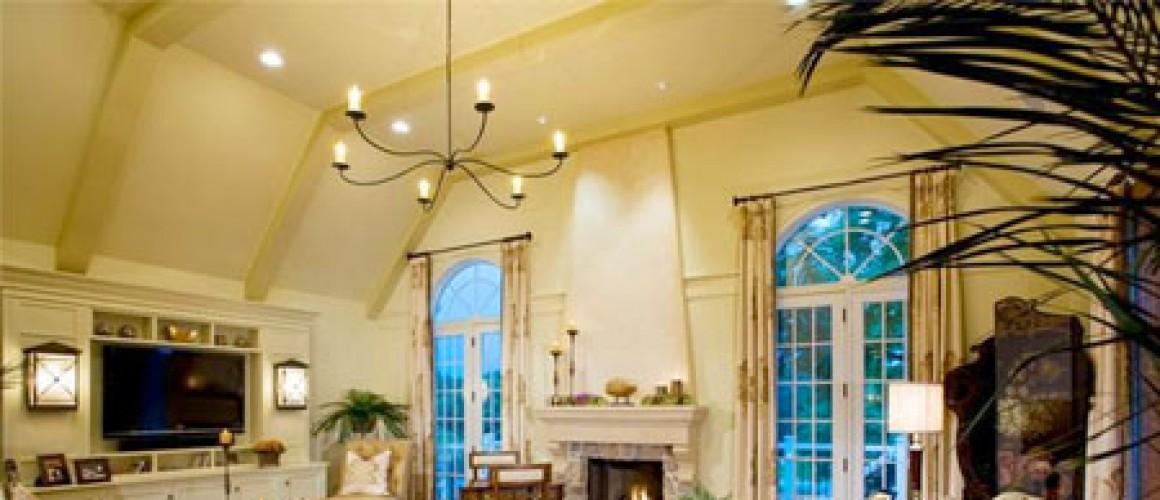 Nguyên tắc sử dụng đèn chiếu sáng phòng khách hiệu quả