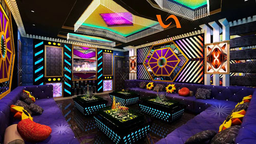 Loại đèn trang trí quán karaoke