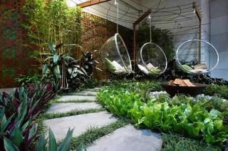 Những kiểu sân vườn phổ biến dành cho biệt thự phần 1