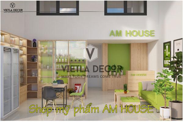 Thiết kế, nhận diện thương hiệu  shop mỹ phẩm nhập khẩu hàng Nhật AM House