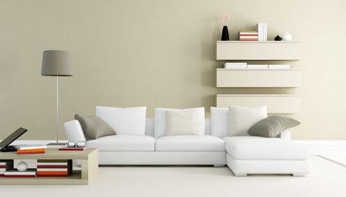 Phòng khách với chiếc ghế sofa đẹp